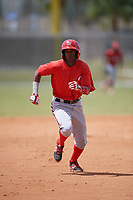 Washington Nationals Edwin Lora (10) runs the bases during a minor league Spring Training game against the St. Louis Cardinals on March 27, 2017 at the Roger Dean Stadium Complex in Jupiter, Florida.  (Mike Janes/Four Seam Images)