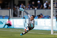 SAN JOSE, CA - AUGUST 03: Andrew Tarbell  prior to a Major League Soccer (MLS) match between the San Jose Earthquakes and the Columbus Crew on August 03, 2019 at Avaya Stadium in San Jose, California.