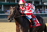 LOUISVILLE, KY - SEP 15: Serengeti Empress (jockey Corey J. Lanerie ) wins the 50th running of the G2 Pocahontas Stakes at Churchill Downs, Louisville, Kentucky. Owner Joel Politi, trainer Thomas M. Amoss, by Alternation x Havisham (Bernardini) (Photo by Mary M. Meek/Eclipse Sportswire/Getty Images)