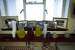 Arbroath 0 Edinburgh City 1, 15/03/2017. Gayfield Park, SPFL League 2. Photographs in the tea room under the main stand at Gayfield Park before Arbroath hosted Edinburgh City in an SPFL League 2 fixture. The newly-promoted side from the Capital were looking to secure their place in SPFL League 2 after promotion from the Lowland League the previous season. They won the match 1-0 with an injury time goal watched by 775 spectators to keep them 4 points clear of bottom spot with three further games to play. Photo by Colin McPherson.