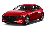 2019 Mazda Mazda-3 Style 5 Door Hatchback angular front stock photos of front three quarter view