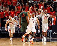 CHARLOTTESVILLE, VA- JANUARY 7:  during the game on January 7, 2012 at the John Paul Jones Arena in Charlottesville, Virginia. Virginia defeated Miami 52-51. (Photo by Andrew Shurtleff/Getty Images) *** Local Caption ***