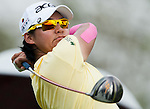 CHON BURI, THAILAND - FEBRUARY 16:  Yani Tseng of Taiwan tees off on the 4th hole during day one of the LPGA Thailand at Siam Country Club on February 16, 2012 in Chon Buri, Thailand.  Photo by Victor Fraile / The Power of Sport Images