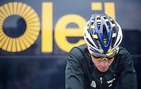 3 Days of De Panne.stage 1: Middelkerke - Zottegem..Lieuwe Westra (NLD) warming down after the race