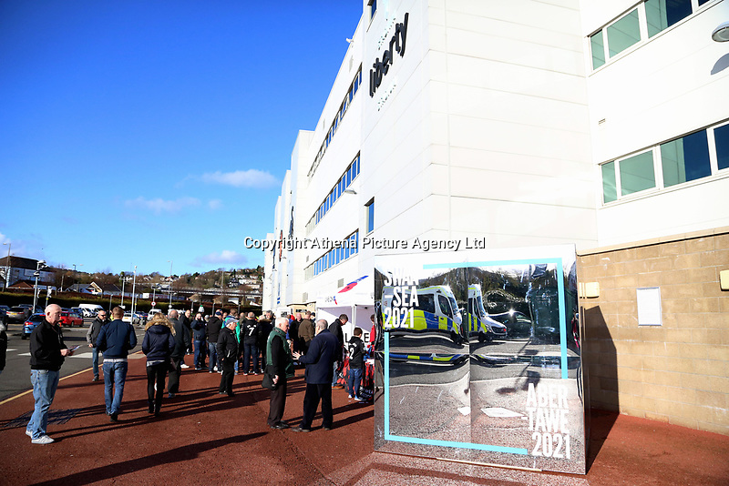 The Swansea City of Culture Bid mirror outside the stadium during the Premier League match between Swansea City and Brighton and Hove Albion at The Liberty Stadium, Swansea, Wales, UK. Saturday 04 November 2017