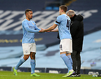 10th January 2021; Etihad Stadium, Manchester, Lancashire, England; English FA Cup Football, Manchester City versus Birmingham City;  Gabriel Jesus of Manchester City is replaced by substitute Liam Delap of Manchester City