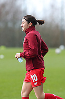 Noemie Gelders (10) of Standard pictured during the warm up before a female soccer game between Standard Femina de Liege and Sporting Charleroi on the 16th matchday of the 2020 - 2021 season of Belgian Scooore Womens Super League , saturday 13 th of February 2021  in Angleur , Belgium . PHOTO SPORTPIX.BE | SPP | SEVIL OKTEM