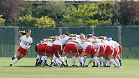 Kristin Stannard circles her teammates as they huddle before the game. Stanford defeated USC 2-0 in second round action of the NCAA tournament at Buck Shaw Stadium, Santa Clara University, Santa Clara, CA on November 12, 2006.