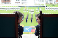 BOGOTÁ - COLOMBIA, 01-06-2013 Juan Manuel Santos, presidente de Colombia, y Juan Carlos Pinzón, Ministro de defensa de Colombia, durante la ceremonia de ascensos del Ejercito Nacional de Colombia./ Colombian president Juan Manuel Santos and his minister of defense Juan Carlos Pinzon, during the promotion ceremony of National Army of Colombia. Photo: VizzorImage /  Andrés Piscov - SIG /HANDOUT PICTURE; MANDATORY USE EDITORIAL ONLY/