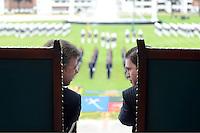BOGOTÁ - COLOMBIA, 01-06-2013 Juan Manuel Santos, presidente de Colombia, y Juan Carlos Pinzón, Ministro de defensa de Colombia, durante la ceremonia de ascensos del Ejercito Nacional de Colombia./ Colombian president Juan Manuel Santos and his minister of defense Juan Carlos Pinzon, during the promotion ceremony of National Army of Colombia. Photo: VizzorImage /  Andrés Piscov - SIG /HANDOUT PICTURE; MANDATORY USE EDITORIAL ONLY/