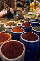 Europe/Turquie/Istanbul : Marché du Cicek Pasagi ou passage des fleurs - Etal d'épices  // Europe / Turkey / Istanbul: Cicek Pasagi market or flower passage - Spice stall