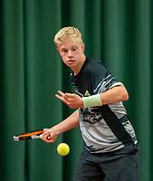 Wateringen, The Netherlands, December 8,  2019, De Rhijenhof , NOJK juniors 14 and18 years, Finals boys 14 years Lars Wagenaar (NED)<br /> Photo: www.tennisimages.com/Henk Koster