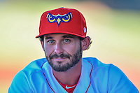 Greg Belton (1) of the Orem Owlz before the game against the Ogden Raptors in Pioneer League action at Home of the Owlz on June 25, 2016 in Orem, Utah. Orem defeated Ogden 4-1.  (Stephen Smith/Four Seam Images)
