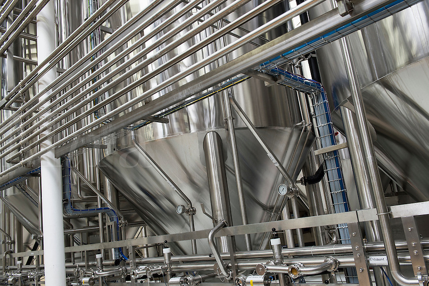 Fermentation tanks, Dogfish Head Brewery, Milton, Delaware, USA
