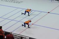 SPEEDSKATING: Calgary, 07-02-2020, ISU World Cup Speed Skating Calgary, 1000m Ladies Division A, Ireen Wüst (NED), Letitia de Jong (NED), ©foto Martin de Jong