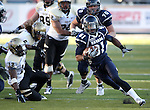Nevada receiver Aaron Bradley (81) runs up the middle against Idaho during the second half of an NCAA football game in Reno, Nev., on Saturday, Dec. 3, 2011. Nevada won 5-3. .Photo by Cathleen Allison
