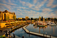 Victoria harbor at sunset. Vancouver B.C. Canada