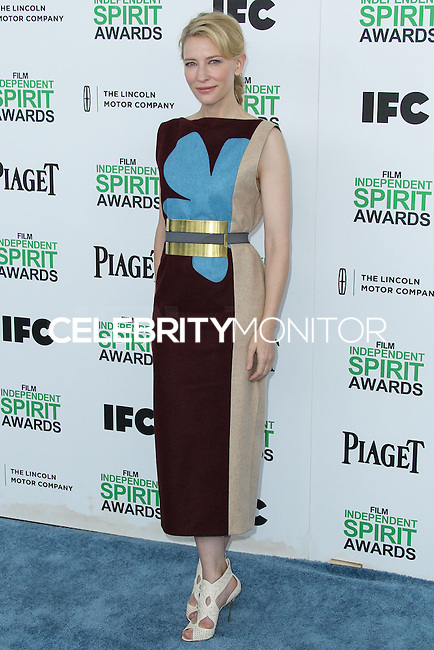 SANTA MONICA, CA, USA - MARCH 01: Cate Blanchett at the 2014 Film Independent Spirit Awards held at Santa Monica Beach on March 1, 2014 in Santa Monica, California, United States. (Photo by Xavier Collin/Celebrity Monitor)