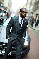 Tinie Tempah arrives at London Collections Men Fashion Week