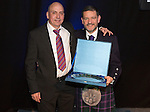 St Johnstone FC Hall of Fame Dinner, Perth Concert Hall….03.04.16<br />Chairman Steve Brown with Hall of Fame Inductee Steve Maskrey<br />Picture by Graeme Hart.<br />Copyright Perthshire Picture Agency<br />Tel: 01738 623350  Mobile: 07990 594431