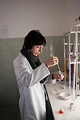 Chemical analysis laboratory at Georgian Water and Power's Natakhtari water collection outlet, on the outskirts of Tbilisi, which supplies 70% of the capital's water.