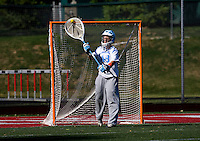 Logan Ripley (48) of North Carolina distributes the ball out of her goalarea during their game at St. Stephens and St. Agnes High School in Alexandria, VA.  North Carolina defeated Cornell, 13-7.