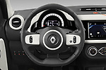 Car pictures of steering wheel view of a 2021 Renault Twingo-Electric Vibes 5 Door Hatchback Steering Wheel