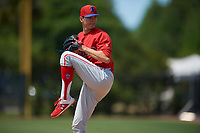 Philadelphia Phillies pitcher Kevin Gowdy during a Minor League Spring Training game against the Toronto Blue Jays on March 29, 2019 at the Carpenter Complex in Clearwater, Florida.  (Mike Janes/Four Seam Images)