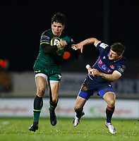 13th March 2021; Galway Sportsgrounds, Galway, Connacht, Ireland; Guinness Pro 14 Rugby, Connacht versus Edinburgh; Alex Wootton brushes of a tackle on an attacking run for Connacht
