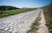 The Rampe cobbles in Kluisbergen<br /> <br /> cycling hotspots & impressions in the Vlaamse Ardennen (Flemish Ardennes) <br /> <br /> Cycling In Flanders <br /> Flanders Tourist Board<br /> <br /> ©kramon