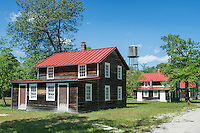 Worker cottages in Historic Whitesbog Village, Whitesbog New Jersey. Home of the early cranberry and blueberry industry in the USA.