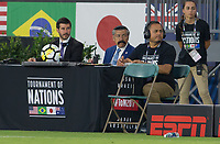 Carson, CA - Thursday August 03, 2017: officials during a 2017 Tournament of Nations match between the women's national teams of the United States (USA) and Japan (JAP) at StubHub Center.