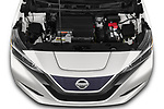 Car Stock 2020 Nissan Leaf SV 5 Door Hatchback Engine  high angle detail view