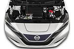 Car Stock 2020 Nissan Leaf SV 5 Door Hatchback Engine  high angle detail view