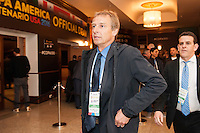 NEW YORK, NY - Sunday February 21, 2016: United States National Team Head Coach Jurgen Klinsmann arrives to the Copa America Centenario draw ceremony at the Hammerstein Ballroom in midtown Manhattan, New York City.