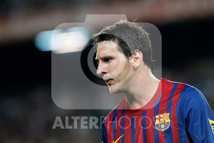 FC Barcelona's Leo Messi during Spanish Supercup 2nd match.August 17,2011. (ALTERPHOTOS/Acero)