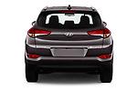 Straight rear view of a 2018 Hyundai Tucson Premium 5 Door SUV stock images