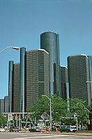 Detroit:  Renaissance Center, John Portman & Assoc. 1977.  Photo '97