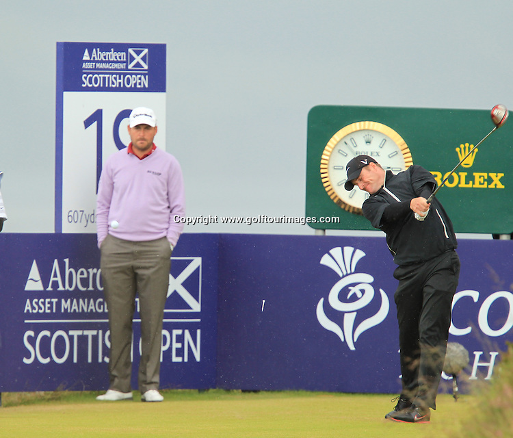 Mark Warren (SCO) during the third round of the 2012 Aberdeen Asset Management Scottish Open being played over the links at Castle Stuart, Inverness, Scotland from 12th to 15th July 2012:  Stuart Adams www.golftourimages.com:14th July 2012