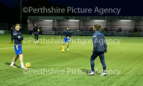 Kelty Hearts v St Johnstone…07.10.20   New Central Park  Betfred Cup<br />Liam Craig and Stevie May during the warm-up<br />Picture by Graeme Hart.<br />Copyright Perthshire Picture Agency<br />Tel: 01738 623350  Mobile: 07990 594431