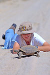 Kathie Meyer Observing Desert Tortoise