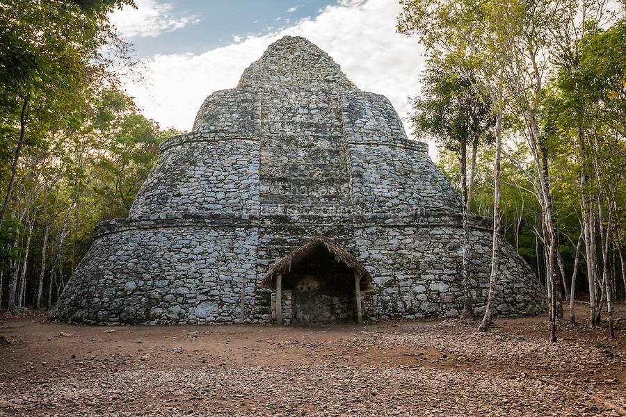 Xaibe, a Lookout Tower, Coba Ruins, near Playa del Carmen, Yucatan, Mexico.