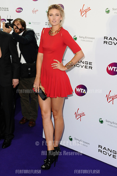 Maria Sharapova arriving for the Pre Wimbledon Party, Kensington Roof Gardens, London. 16/07/2011  Picture by: Steve Vas / Featureflash
