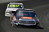 #4: Todd Gilliland, Kyle Busch Motorsports, Toyota Tundra JBL, #02: Tyler Dippel, Young's Motorsports, Chevrolet Silverado D and A Concrete Contractor, Inc.