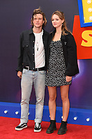 """LONDON, UK. June 16, 2019: Dougie Poynter & Maddie Elmer arriving for the """"Toy Story 4"""" premiere at the Odeon Luxe, Leicester Square, London.<br /> Picture: Steve Vas/Featureflash"""