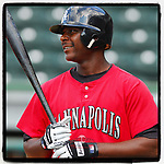 #OTD On This Day, June 4, 2007, Chris Carter of the Kannapolis Intimidators was the DH in a game against the Greenville Drive at West End Field in Greenville, S.C. He later played for eight years in the majors, mostly with Oakland and Houston. With Milwaukee in 2016 he led the majors in homers. He played in Mexico in 2019, where he led the league in homers and helped his team win a championship. (Tom Priddy/Four Seam Images) #MiLB #OnThisDay #MissingBaseball #nobaseball #stayathome #minorleagues #minorleaguebaseball #Baseball #SallyLeague #AloneTogether