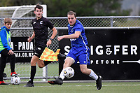 Kieran McMinn of Petone FC during the Central League Football - Petone FC v Lower Hutt AFC at Petone Memorial Park, Lower Hutt, New Zealand on Friday 2 April 2021.<br /> Copyright photo: Masanori Udagawa /  www.photosport.nz