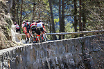 The twisty narrow roadsof La Colmaine during Stage 7 of Paris-Nice 2021, running 119.2km from Le Broc to Valdeblore La Colmiane, France. 13th March 2021.<br /> Picture: ASO/Fabien Boukla | Cyclefile<br /> <br /> All photos usage must carry mandatory copyright credit (© Cyclefile | ASO/Fabien Boukla)