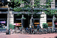 Seattle: Occidental Park, 1972, near Pioneer Square. Landscape Architects, Jones & Jones. Photo '86.