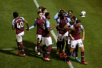 Conor Coventry of West Ham United scores the first goal for his team and celebrates with his team mates during Colchester United vs West Ham United Under-21, EFL Trophy Football at the JobServe Community Stadium on 29th September 2020